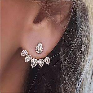 Jewelry - Pierced Water Drop Crystal Earrings NWT